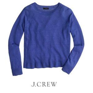 J. Crew Linen Purple Sweater